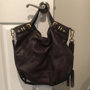 orYANY brown leather purse